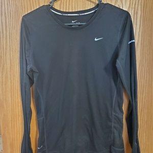 Black Nike Dri-Fit Long Sleeve Shirt
